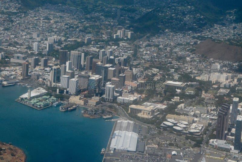 Sopra Honolulu immagini stock