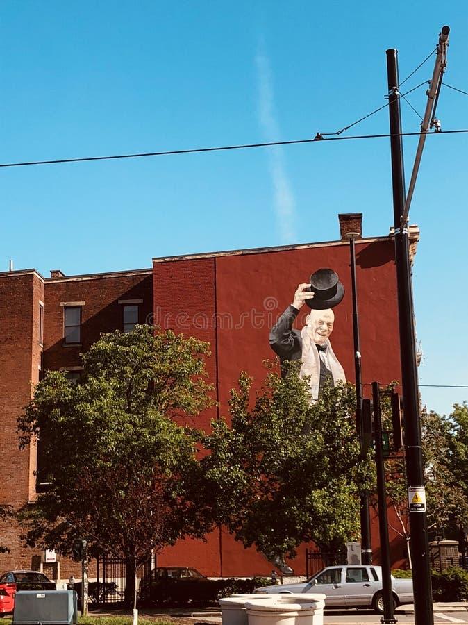 Sopra il murale del Reno a Cincinnati Ohio fotografia stock