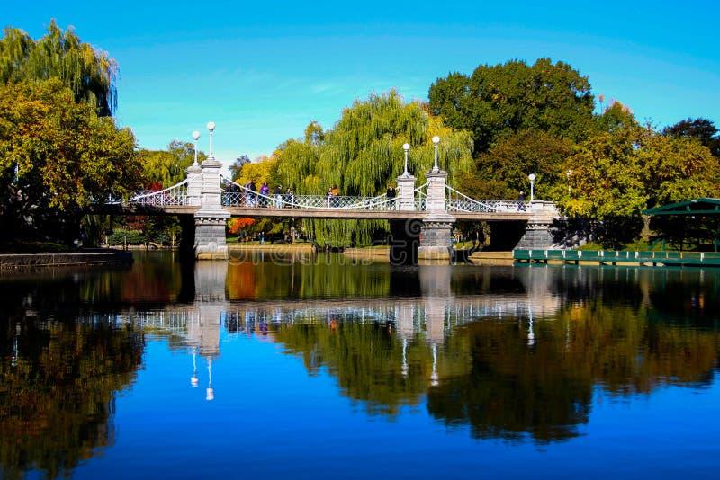 Sopra il ponte del lago fotografia stock