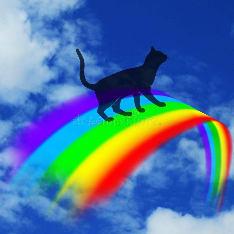 Sopra il ponte dell'arcobaleno fotografia stock