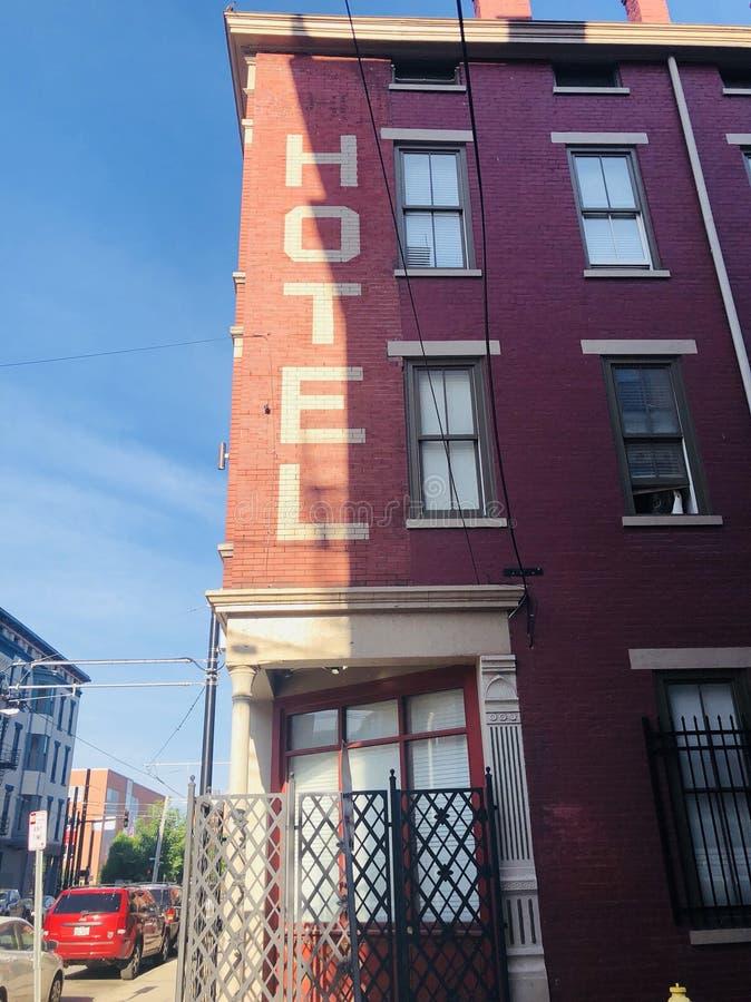 Sopra la vicinanza del Reno nel vecchio hotel di Cincinnati immagine stock libera da diritti