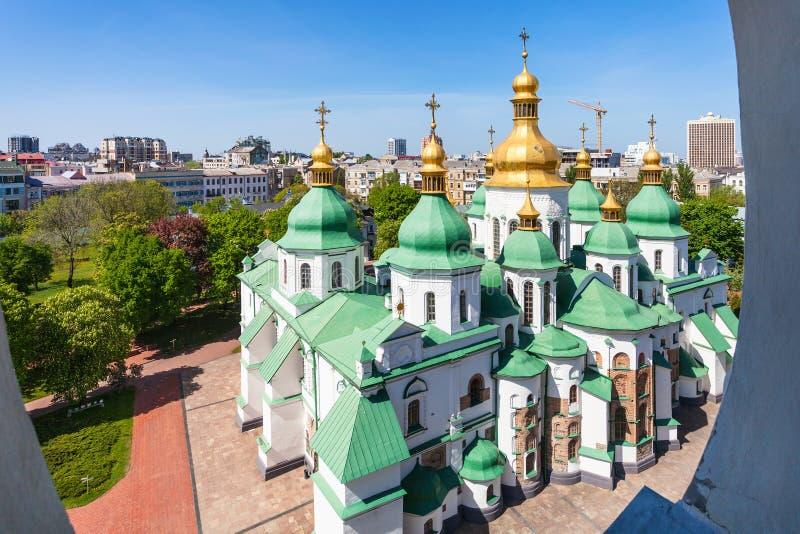 Sopra la vista di costruzione del san Sophia Cathedral fotografie stock