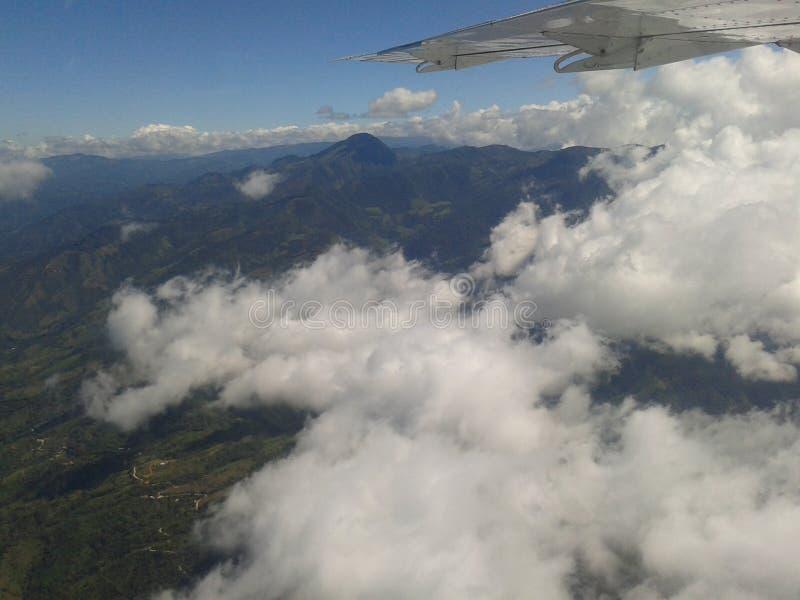 Sopra le montagne in Costa Rica immagine stock