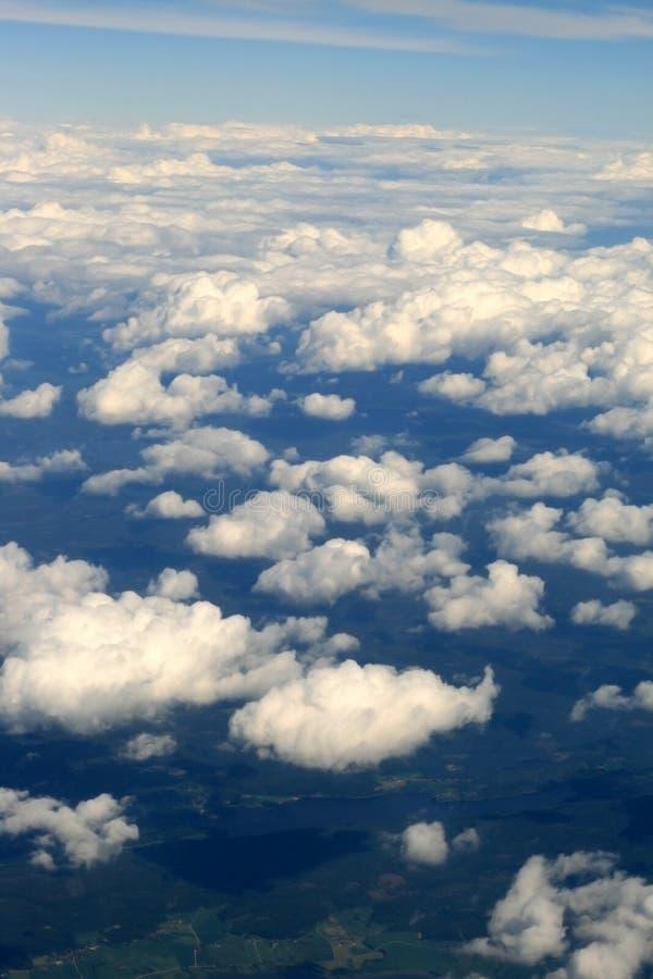 Sopra le nubi fotografia stock