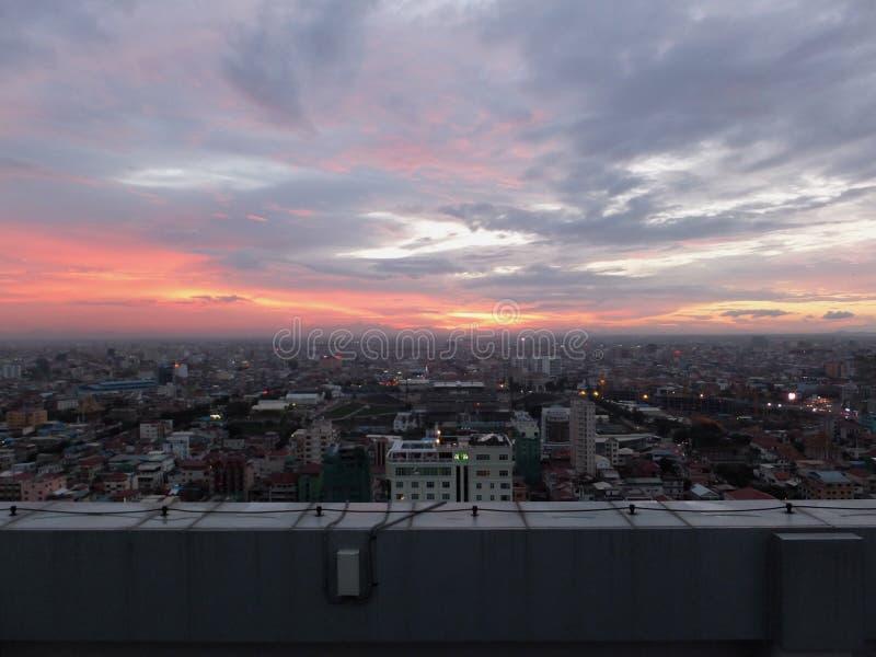 Sopra Phnom Penn fotografia stock