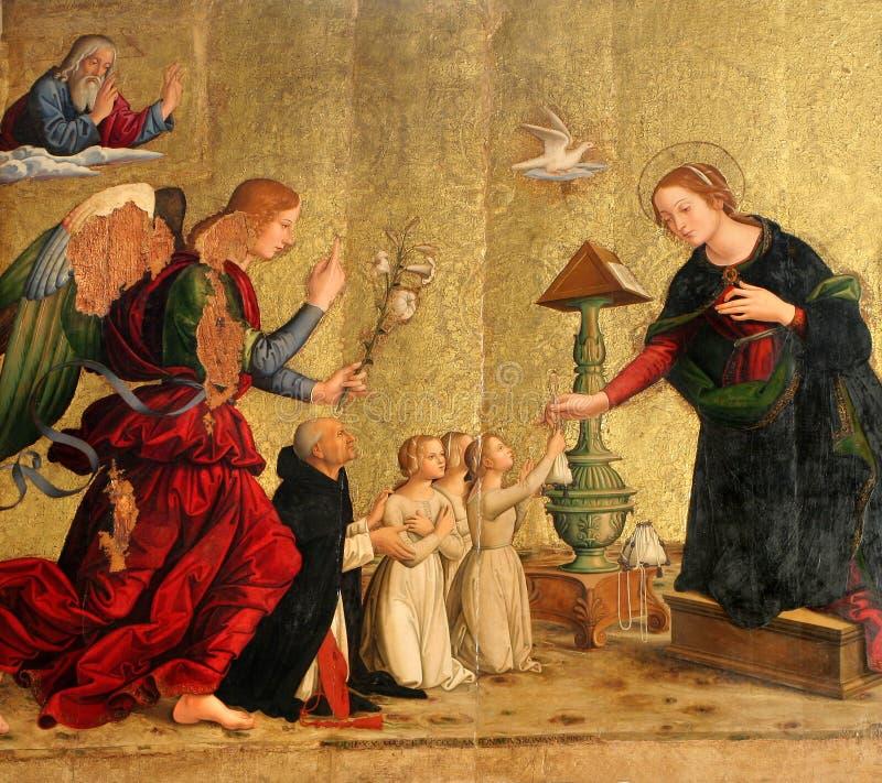 sopra santa της Ρώμης minerva της Μαρίας anuntiation στοκ φωτογραφία με δικαίωμα ελεύθερης χρήσης