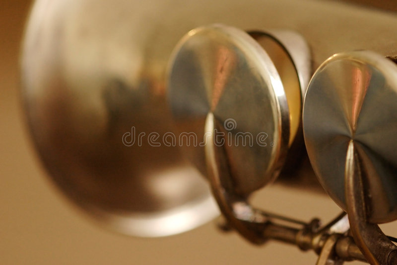 Soprano Sax bell stock image
