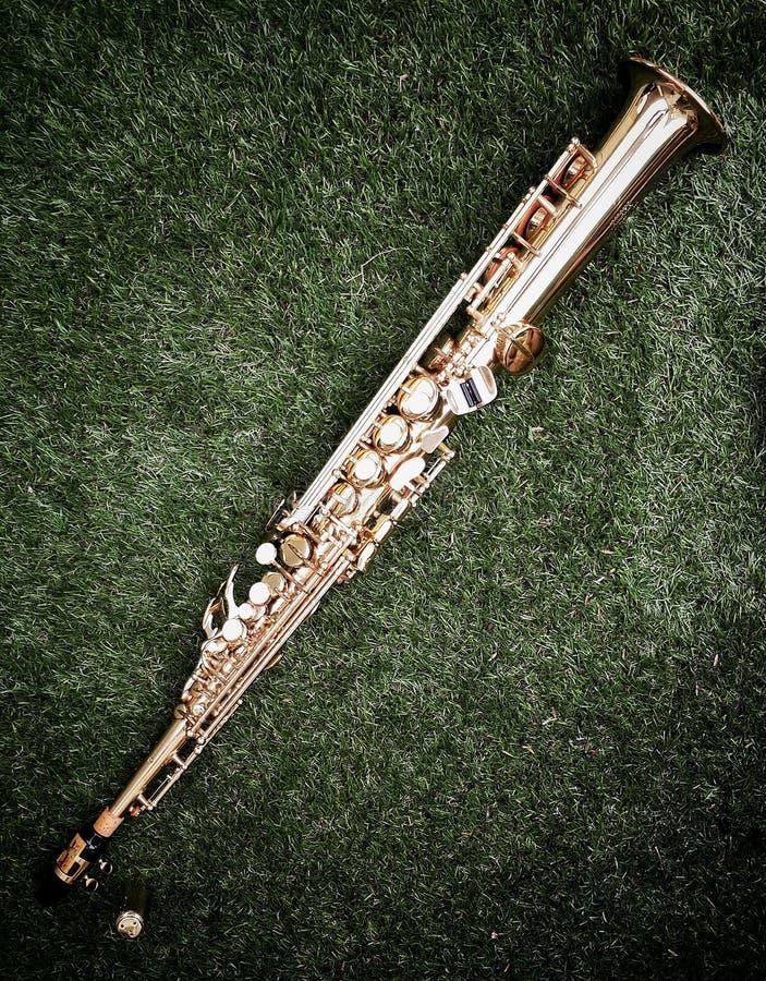 Sopransaxofon royaltyfri bild