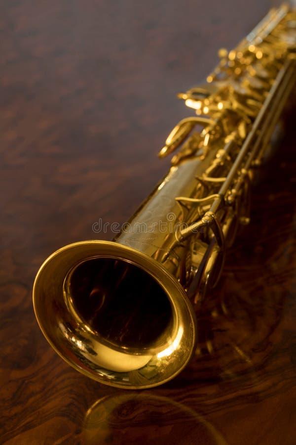 Sopransaxofonen royaltyfri bild
