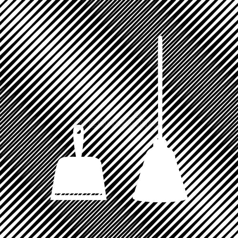 Sopskyffeltecken Skopan för rengörande avskrädehushållsarbetesopskyffel utrustar royaltyfri illustrationer