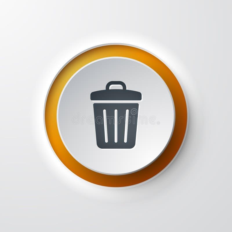 Soptunnarengöringsduksymbol stock illustrationer