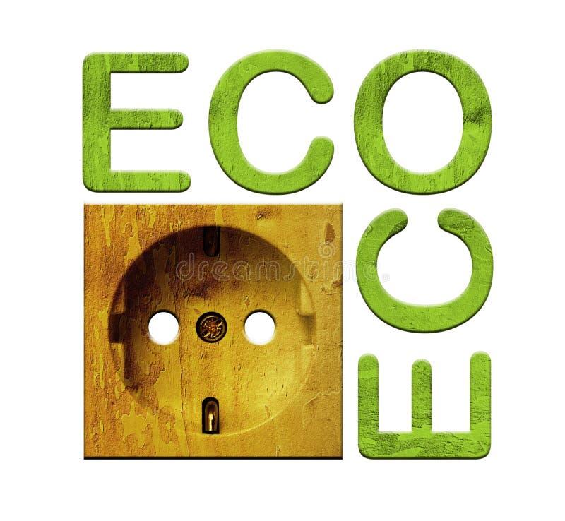 Soquete de madeira - energia verde ilustração stock