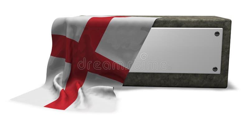 Soquete e bandeira de pedra de Inglaterra ilustração royalty free