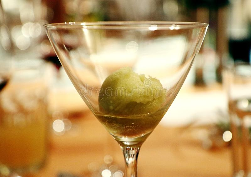 Sorbet lime and basil, delicious! royalty free stock image