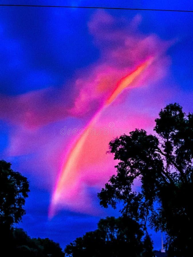 Sorbetto dell'arcobaleno fotografia stock libera da diritti