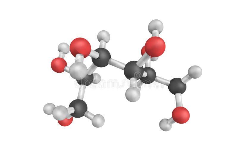 Sorbitol, een suikeralcohol met een zoete smaak die het menselijke BZV royalty-vrije stock fotografie