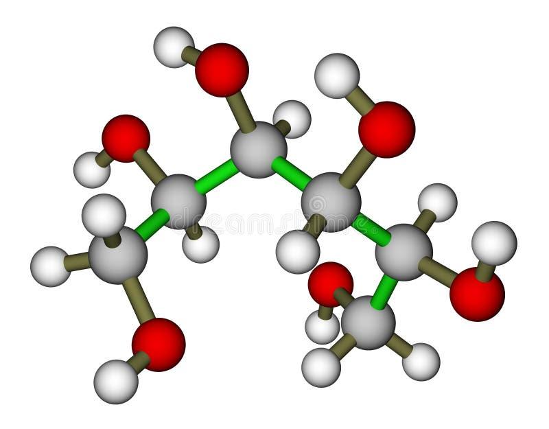 Sorbitol moleculaire structuur stock illustratie