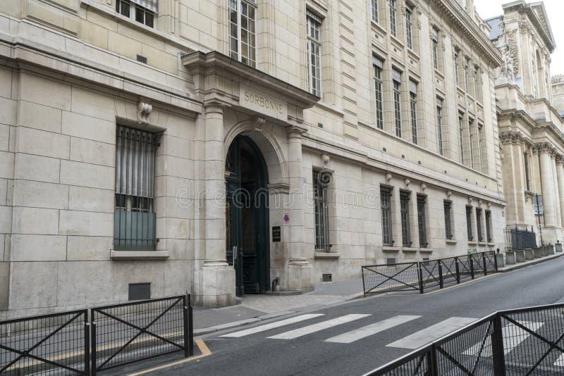 Sorbonne大学在巴黎 免版税图库摄影