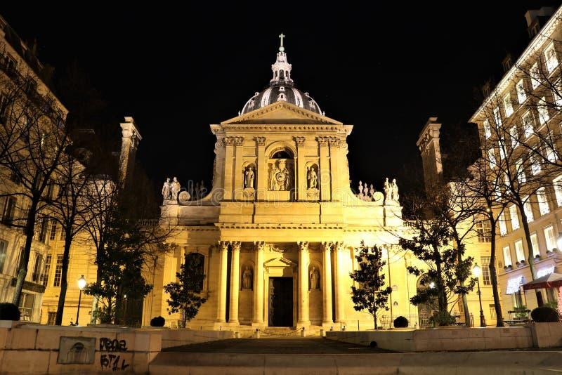Sorbonne kapell, Paris arkivbild