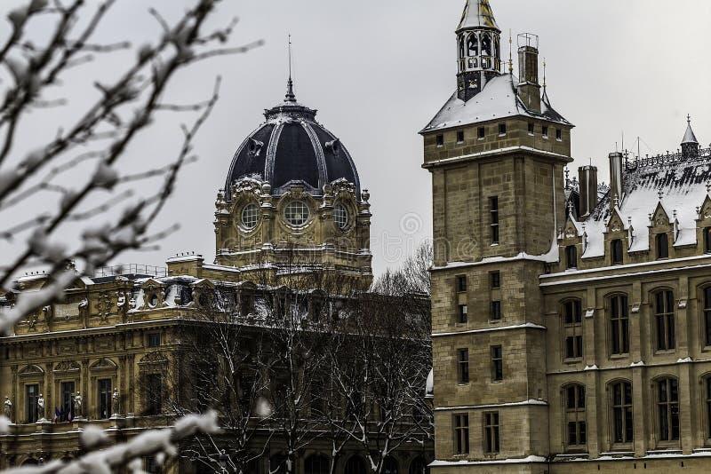 Sorbonne, Universiteit van Parijs stock afbeelding