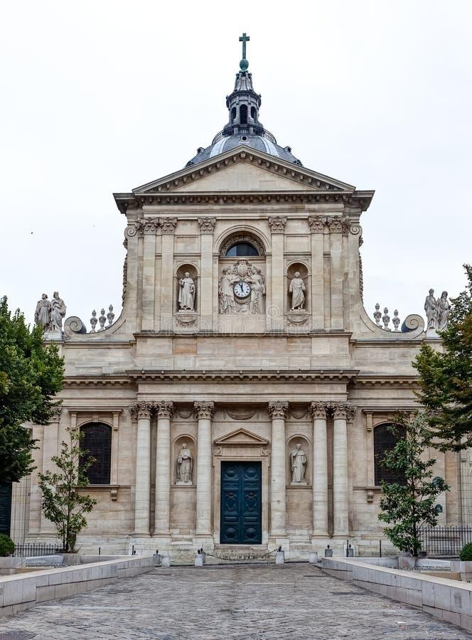 Sorbonneuniversiteit, Parijs, Frankrijk stock afbeeldingen