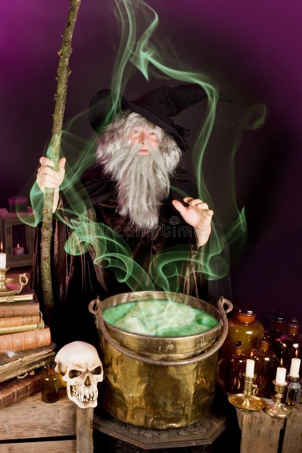 Sorcerer's soup stock image