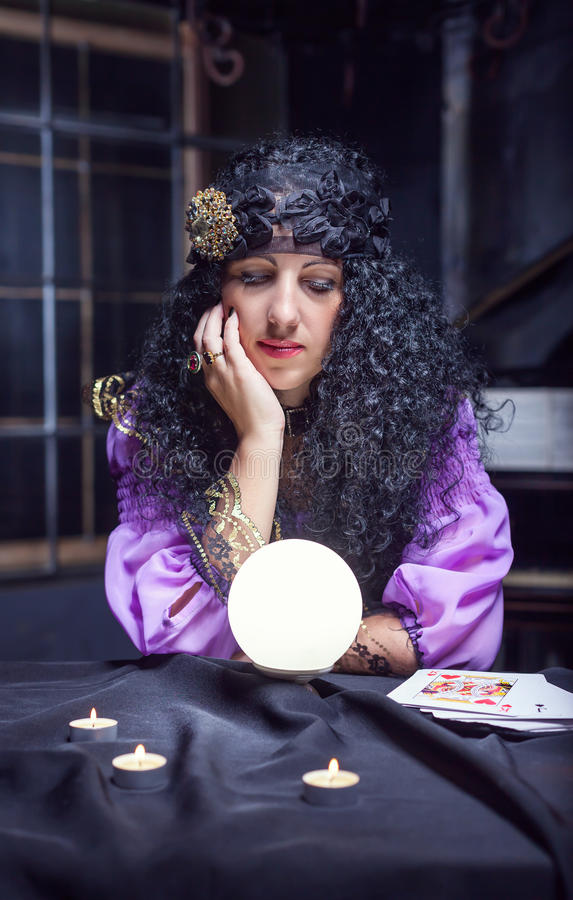 Scary Witch Her Crystal Ball Stock Images - Download 42