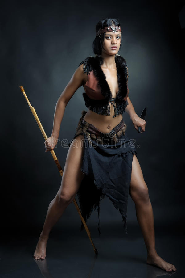 Download Sorceress woman stock image. Image of magic, girl, barbarian - 36975425