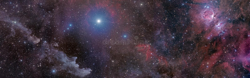 Sorcière à l'épée en Orion image stock