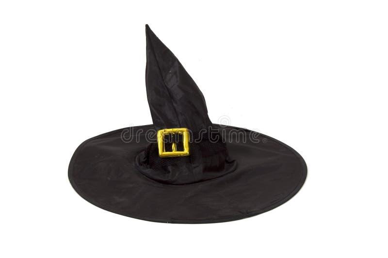 sorcière de chapeau noir image stock
