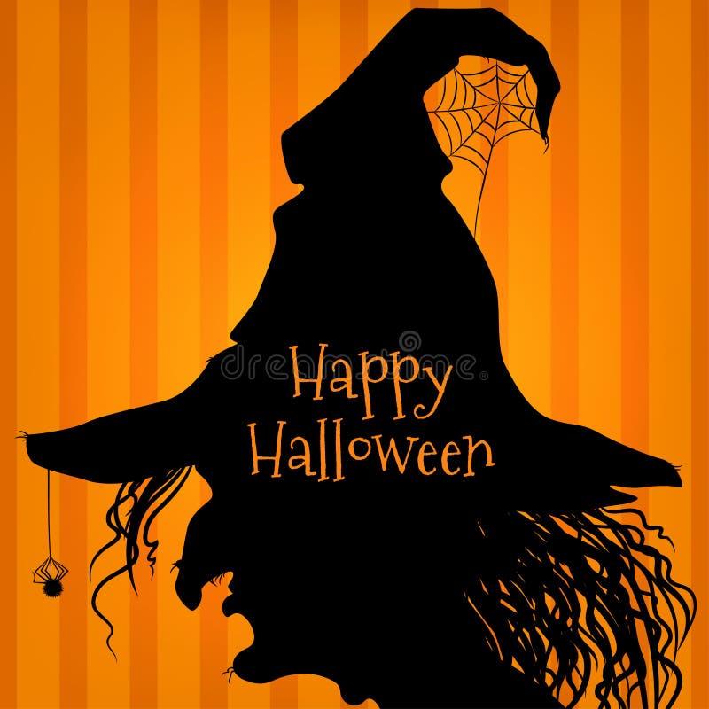 Sorcière de Halloween, pourpre illustration stock