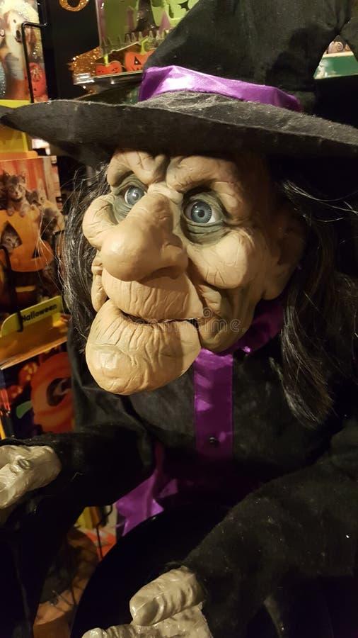 Sorcière de Halloween recherchant des festins photo libre de droits