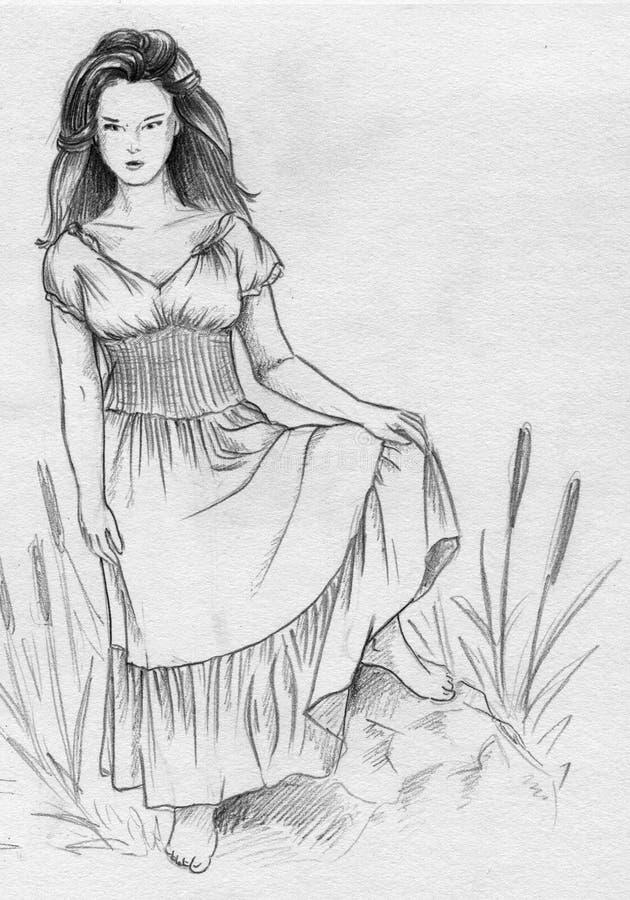 Sorcière de marais illustration stock