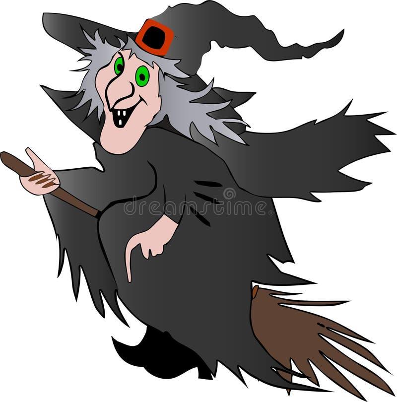 sorcière de veille de la toussaint illustration stock