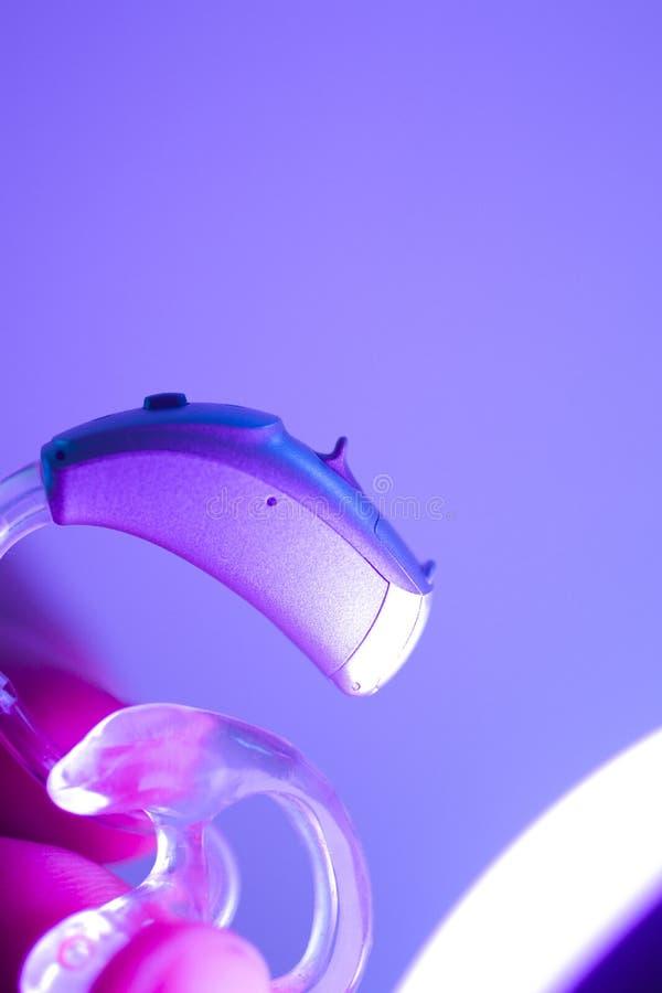 Sordità della protesi acustica fotografie stock libere da diritti