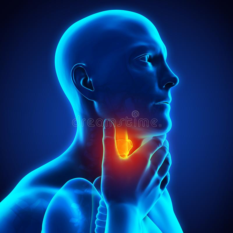 Sore Throat Illustration. 3D render vector illustration