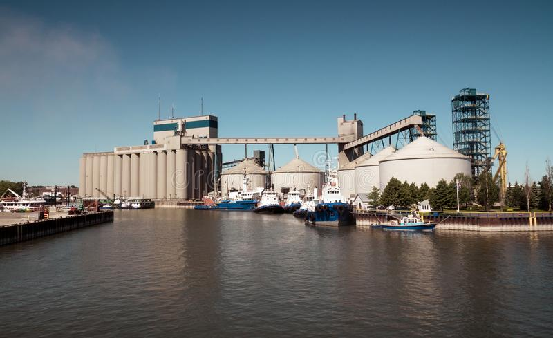 Sorel特雷西工业港口Qc加拿大 库存照片