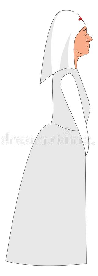 Sorella di misericordia, illustrazione, vettore illustrazione vettoriale
