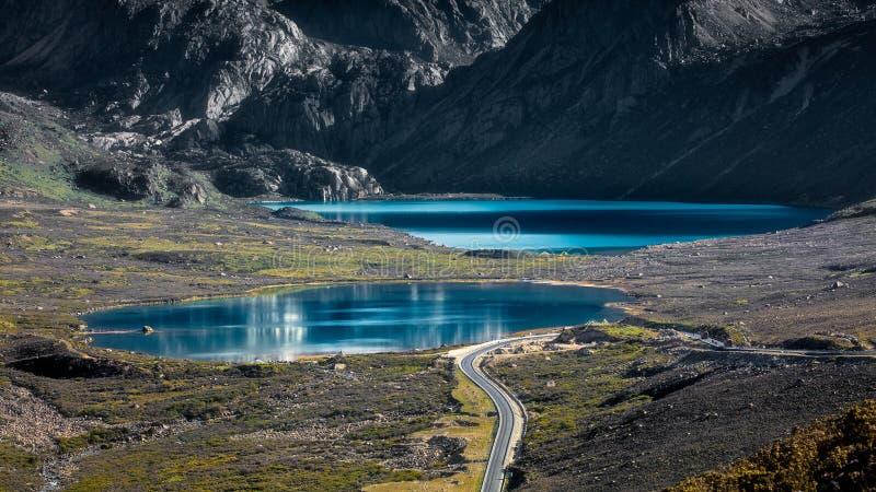 Sorella laghi della Cina fotografie stock