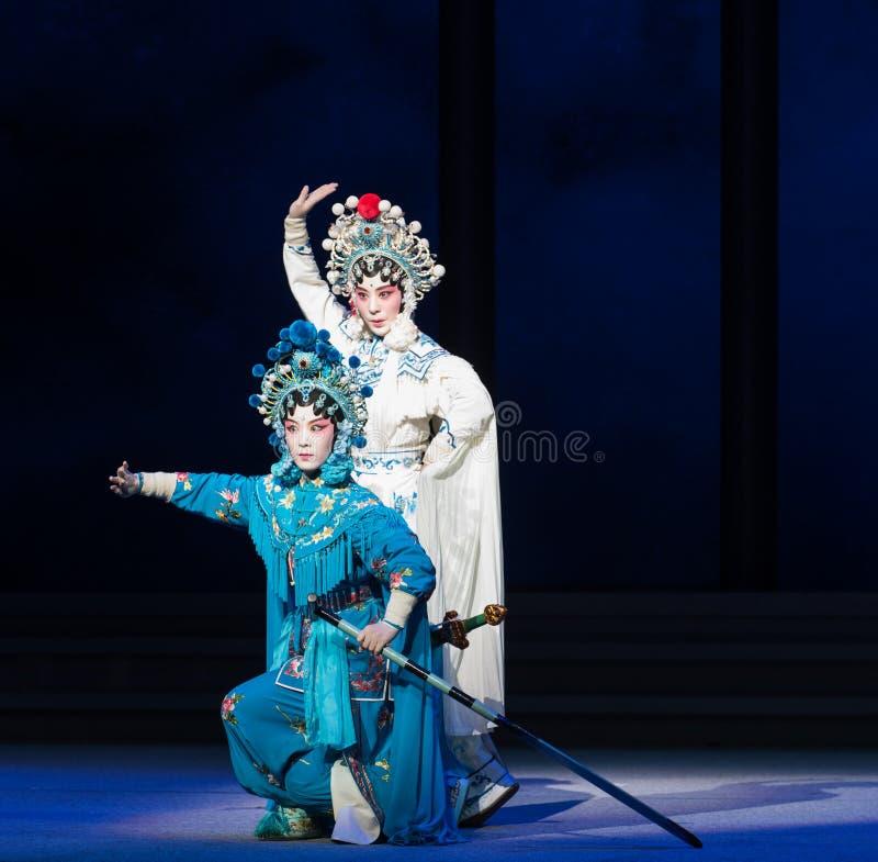 """Sorelle-Kunqu  bianco del serpente di Opera""""Madame Snake†fotografia stock"""