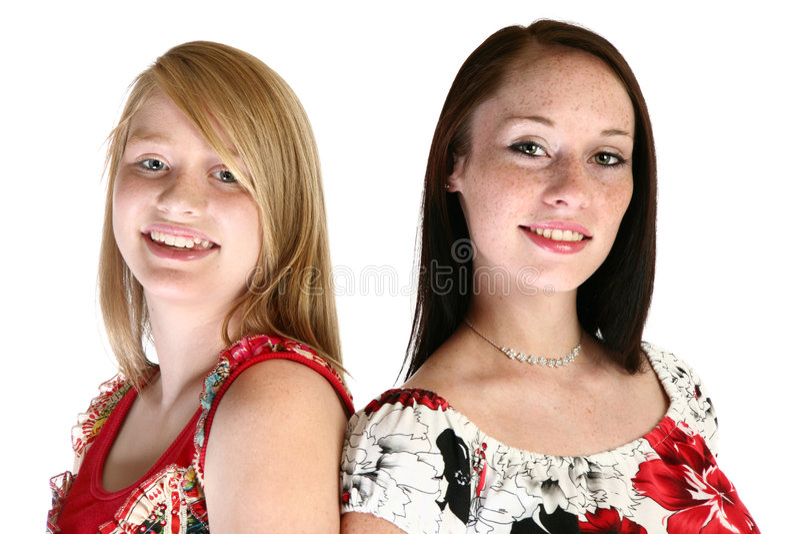 Sorelle teenager immagine stock libera da diritti