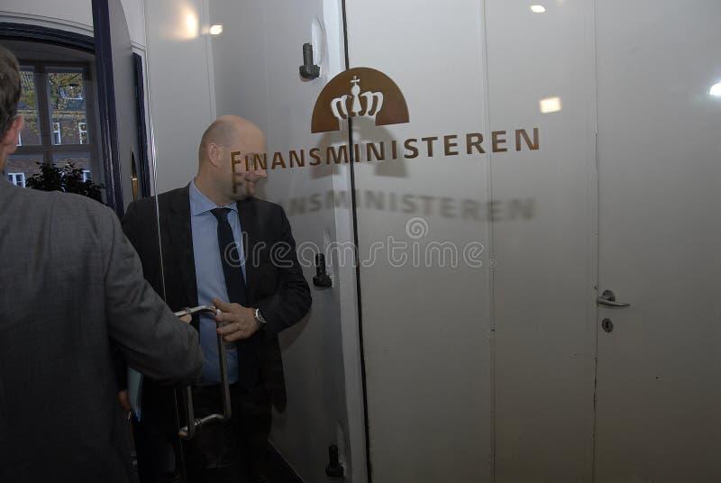 SOREN PAPE POULSEN & BRIAN MIKKELSEN. Copenhagen/Denmark/ _ 27th October 2015 _Soren Pape Poulsen (S�ren Paper poulsen) leaders of danish conservative party stock photos