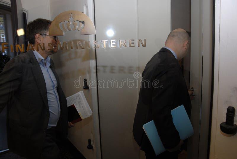 SOREN PAPE POULSEN & BRIAN MIKKELSEN. Copenhagen/Denmark/ _ 27th October 2015 _Soren Pape Poulsen (S�ren Paper poulsen) leaders of danish conservative party royalty free stock photos