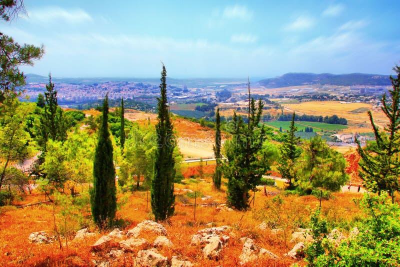 Soreq Avshalom洞旅行在以色列 免版税库存图片