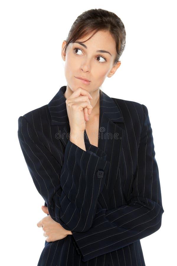 Sorgen der Geschäftsfrau stockbild