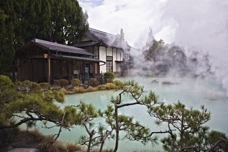 sorgente calda nel Giappone immagini stock libere da diritti