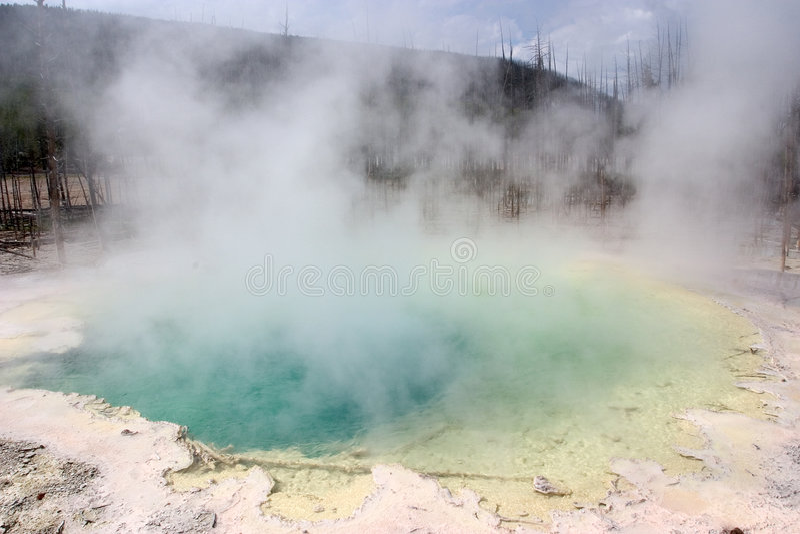 Sorgente calda, sosta nazionale del Yellowstone immagini stock libere da diritti