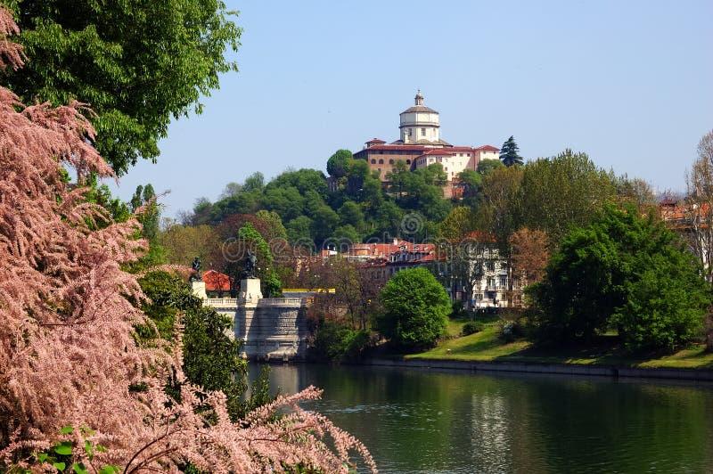 Sorgente del fiume di Torino fotografie stock libere da diritti