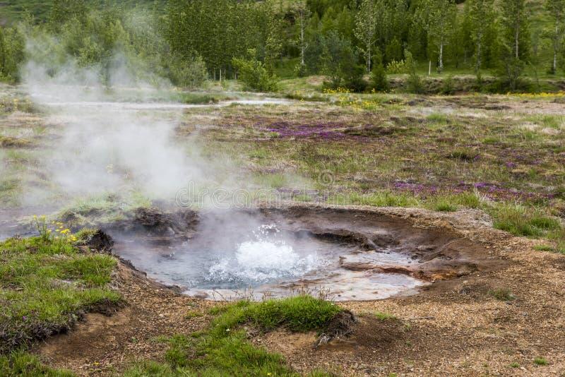 Sorgente di acqua calda geotermica fotografie stock