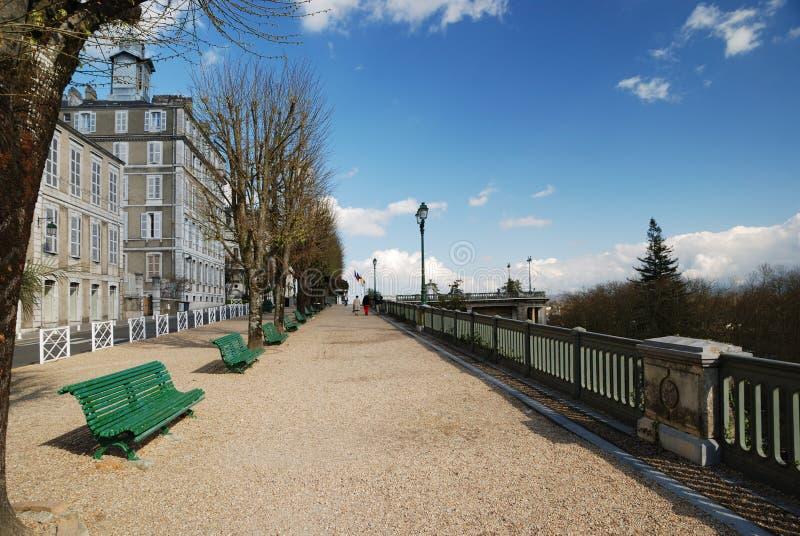 sorgente di Pau pyrenees del boulevard immagini stock libere da diritti